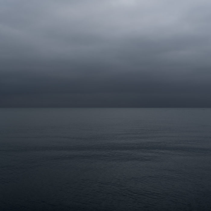Dark dawn Contemporary art photography of Lake Michigan, Great Lakes, from Chicago by artist Lincoln Schatz