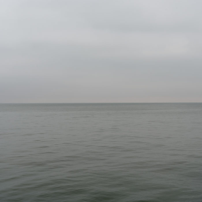 Slate grey Contemporary art photography of Lake Michigan, Great Lakes, from Chicago by artist Lincoln Schatz