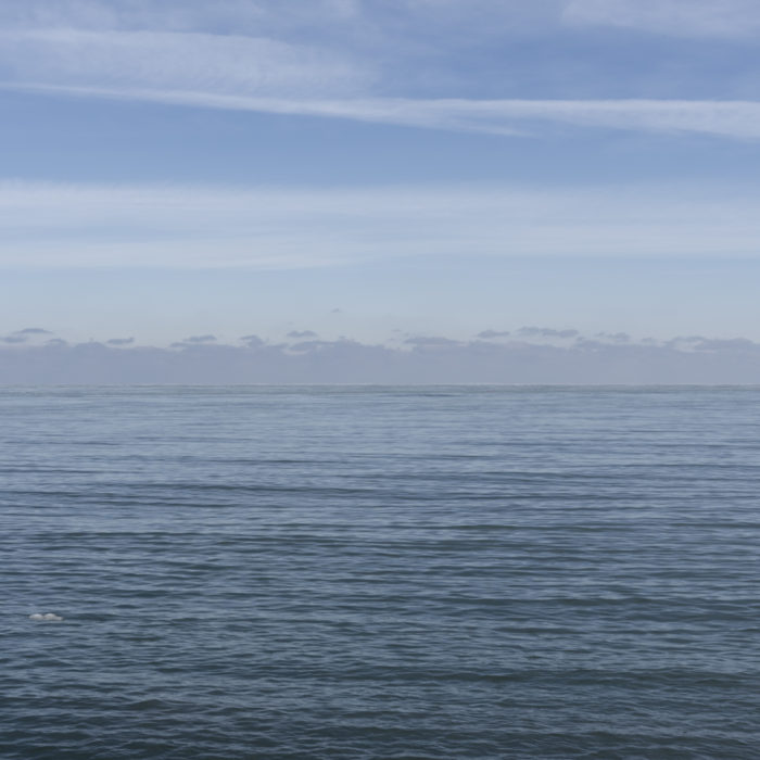 ice cold Contemporary art photograph of Lake Michigan, the inland sea, from Chicago by artist Lincoln Schatz