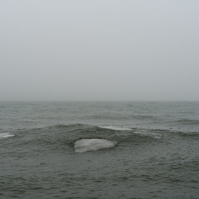 large ice plates Contemporary art photograph of Lake Michigan, the inland sea, from Chicago by artist Lincoln Schatz