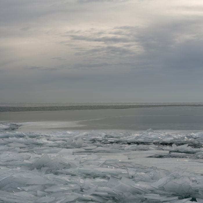 winter dawn Contemporary art photograph of Lake Michigan, the inland sea, from Chicago by artist Lincoln Schatz
