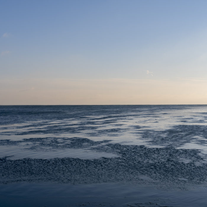 river of ice Contemporary art photograph of Lake Michigan, the inland sea, from Chicago by artist Lincoln Schatz