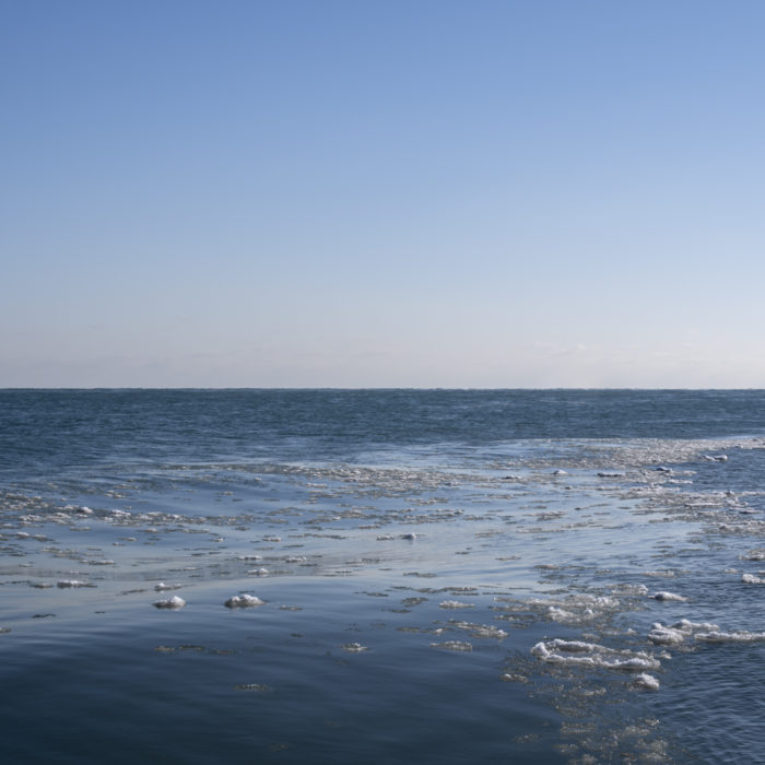 ice flow Contemporary art photograph of Lake Michigan, the inland sea, from Chicago by artist Lincoln Schatz