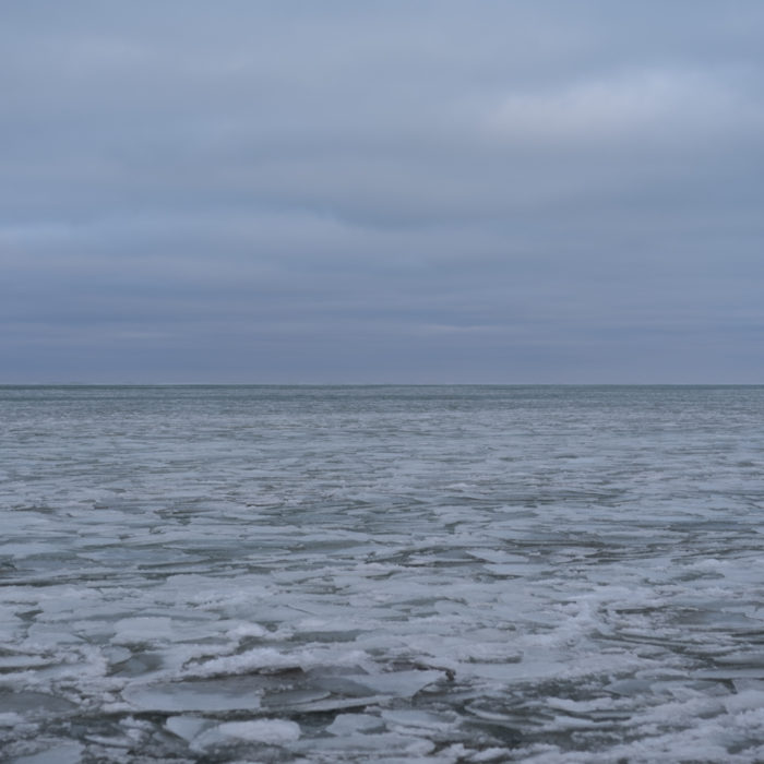 undulating slush Contemporary art photograph of Lake Michigan, the inland sea, from Chicago by artist Lincoln Schatz