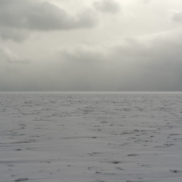 arctic tundra Contemporary art photograph of Lake Michigan, the inland sea, from Chicago by artist Lincoln Schatz