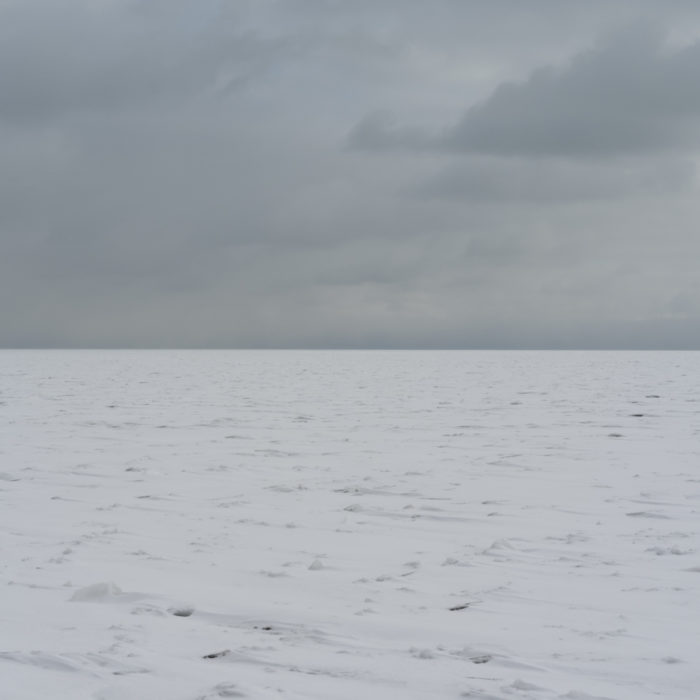 arctic storm Contemporary art photograph of Lake Michigan, the inland sea, from Chicago by artist Lincoln Schatz