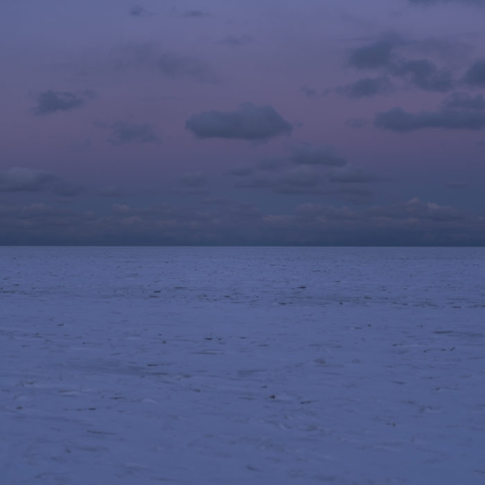 last light Contemporary art photograph of Lake Michigan, the inland sea, from Chicago by artist Lincoln Schatz