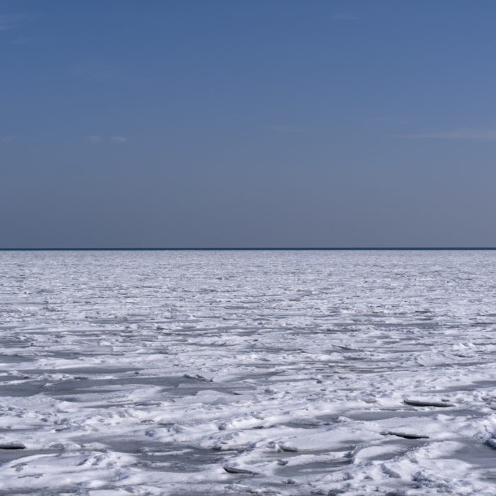 ice pack Contemporary art photograph of Lake Michigan from Chicago by artist Lincoln Schatz @lincolnschatz.com