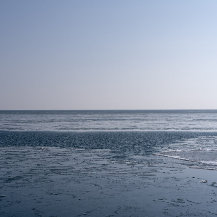 ice forming on lake Contemporary art photograph of Lake Michigan from Chicago by artist Lincoln Schatz @lincolnschatz.com