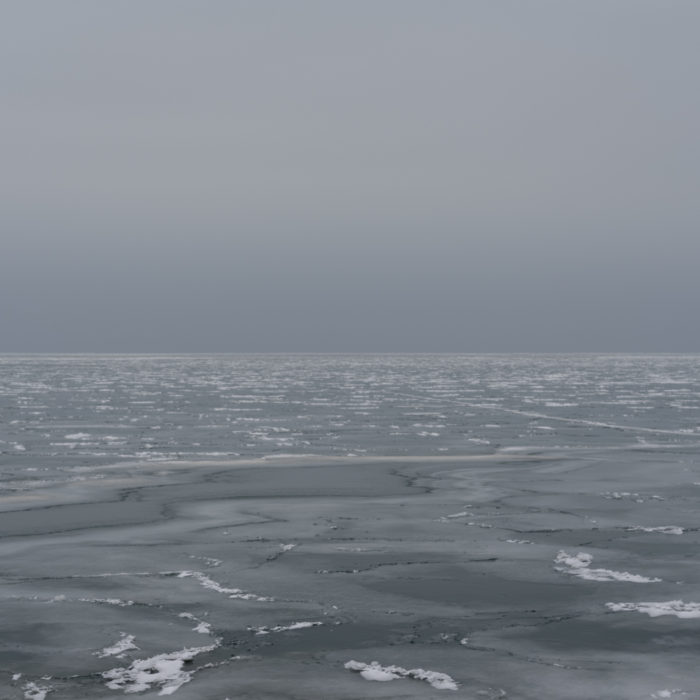 multiple stage ice Contemporary art photograph of Lake Michigan from Chicago by artist Lincoln Schatz @lincolnschatz.com