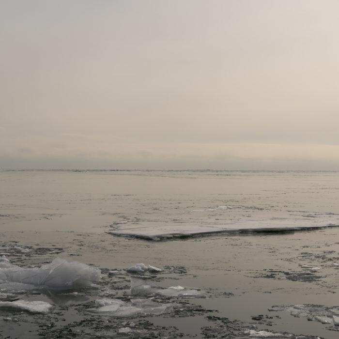 warm winter light Contemporary art photograph of Lake Michigan from Chicago by artist Lincoln Schatz @lincolnschatz.com