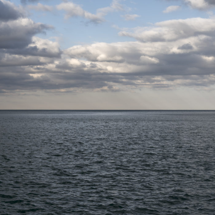 post storm clouds Contemporary art photograph of Lake Michigan from Chicago by artist Lincoln Schatz @lincolnschatz.com