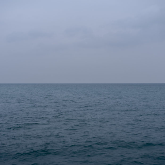 pale blue day Contemporary art photograph of Lake Michigan from Chicago by artist Lincoln Schatz @lincolnschatz.com
