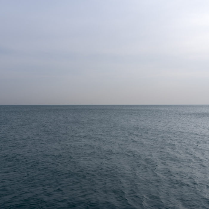 subdued Contemporary art photograph of Lake Michigan from Chicago by artist Lincoln Schatz @lincolnschatz.com