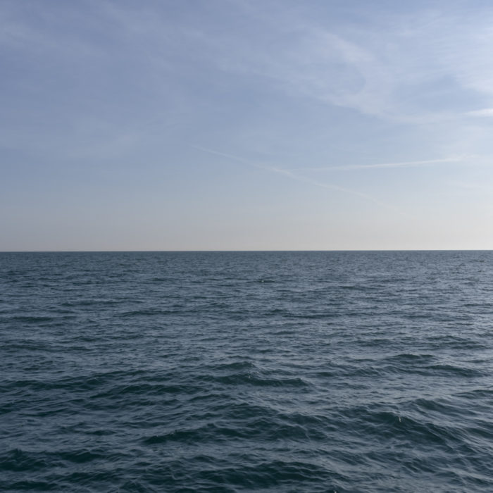 crisp blue Contemporary art photograph of Lake Michigan from Chicago by artist Lincoln Schatz @lincolnschatz.com