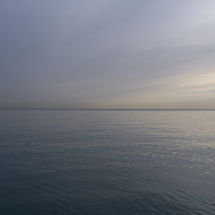 delicate morning Contemporary art photograph of Lake Michigan from Chicago by artist Lincoln Schatz @lincolnschatz.com