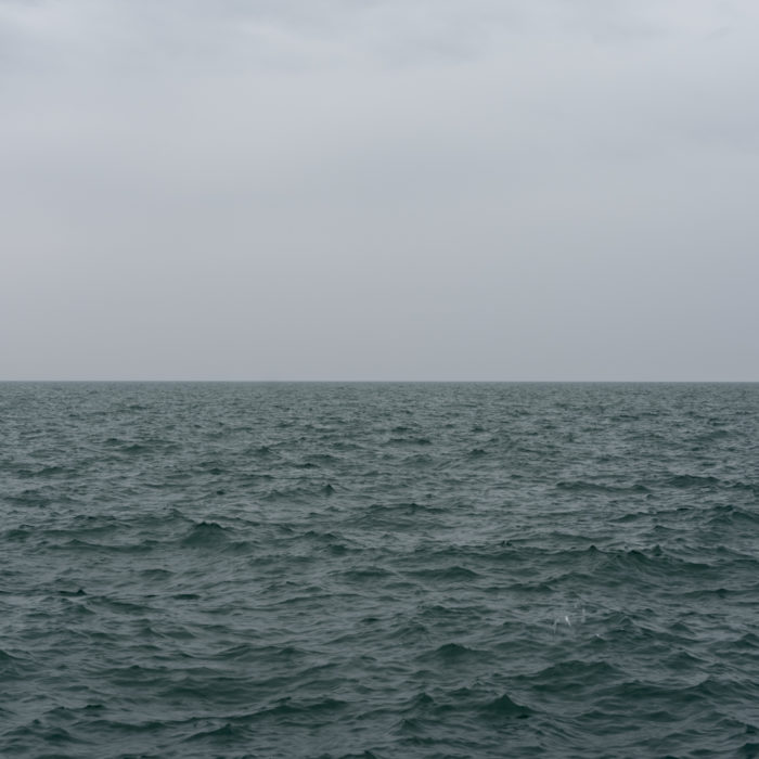 rainy spring storm Contemporary art photograph of Lake Michigan from Chicago by artist Lincoln Schatz @lincolnschatz.com