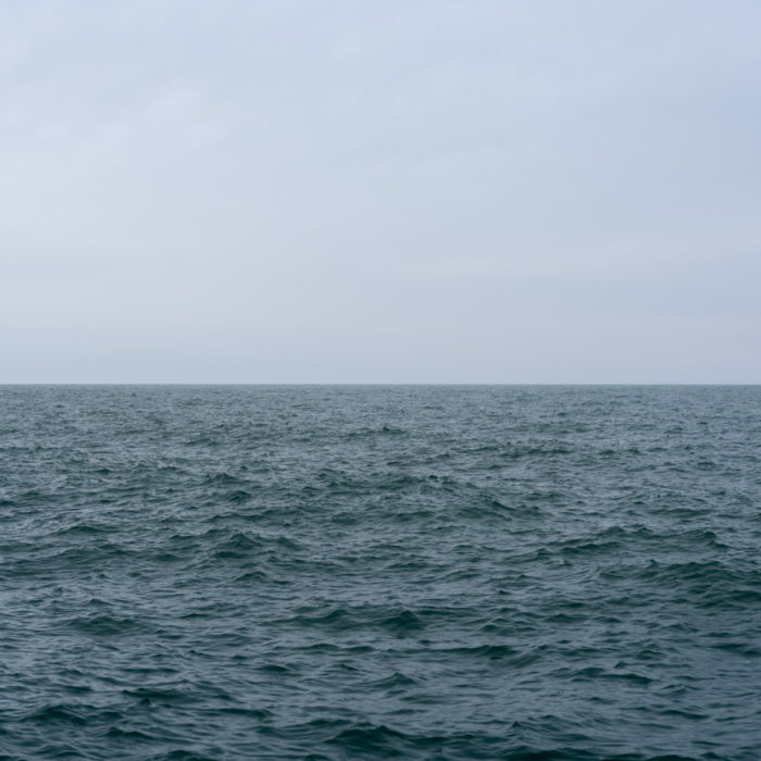 blue day Contemporary art photograph of Lake Michigan from Chicago by artist Lincoln Schatz @lincolnschatz.com