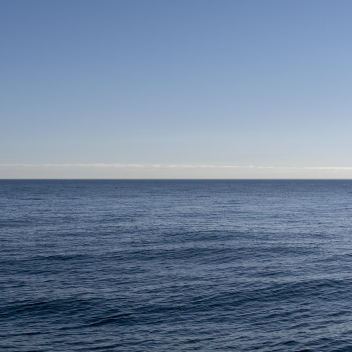 blue sky and water Contemporary art photograph of Lake Michigan from Chicago by artist Lincoln Schatz @lincolnschatz.com