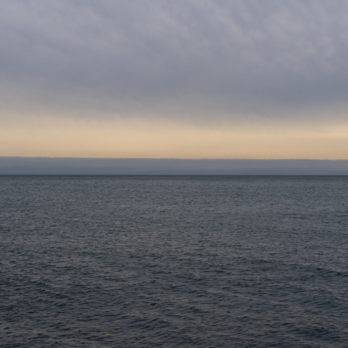 banded sky Contemporary art photograph of Lake Michigan from Chicago by artist Lincoln Schatz @lincolnschatz.com