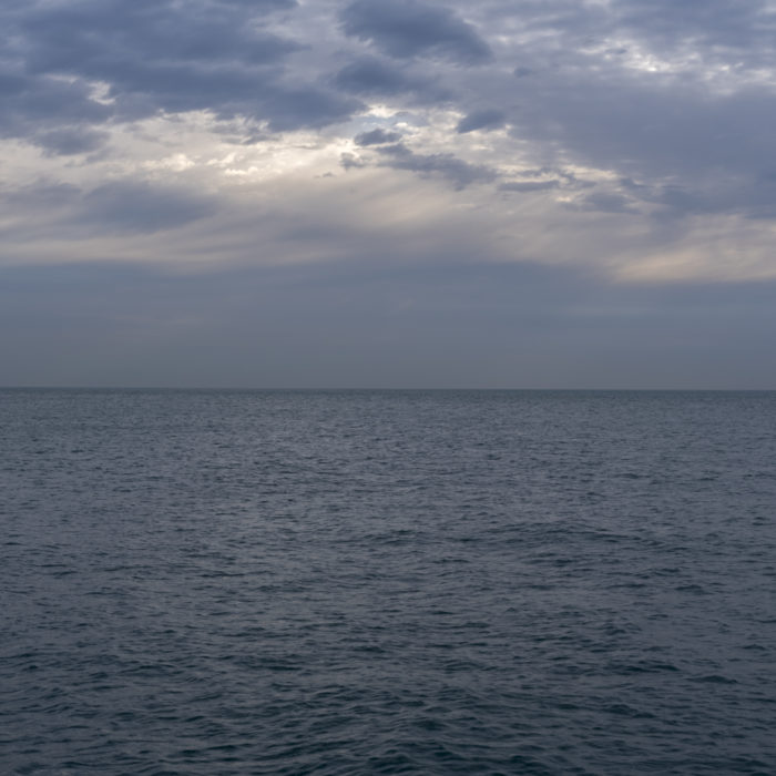 layered sky Contemporary art photograph of Lake Michigan from Chicago by artist Lincoln Schatz @lincolnschatz.com