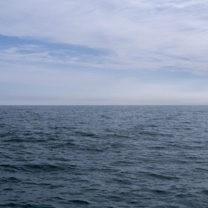 pale blue Contemporary art photograph of Lake Michigan from Chicago by artist Lincoln Schatz @lincolnschatz.com