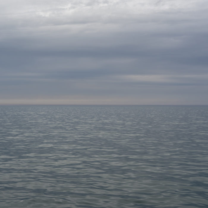 subtle silver light Contemporary art photograph of Lake Michigan from Chicago by artist Lincoln Schatz @lincolnschatz.com