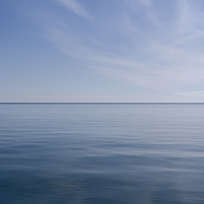 Great lakes blue Contemporary art photograph of Lake Michigan from Chicago by artist Lincoln Schatz @lincolnschatz.com