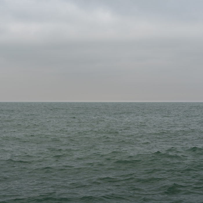 storm slowing down Contemporary art photograph of Lake Michigan from Chicago by artist Lincoln Schatz @lincolnschatz.com