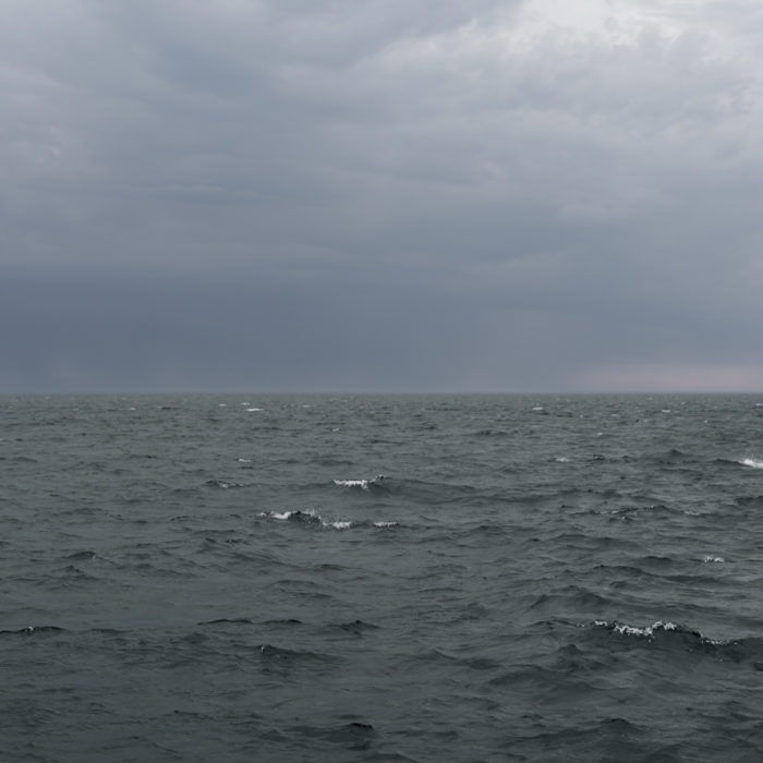Photograph of a storm on Lake Michigan from Chicago by artist Lincoln Schatz