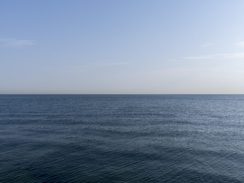 Fine Art Photography of Lake Michigan in equal still parts from Chicago by Contemporary Photographer Lincoln Schatz