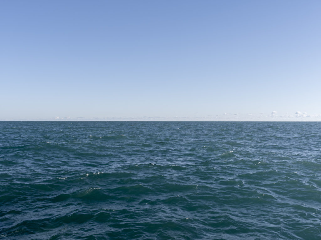 Fine Art Photography of Lake Michigan with electric blue water from Chicago by Contemporary Photographer Lincoln Schatz