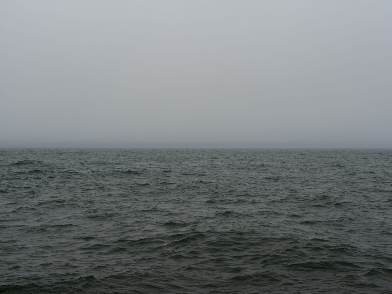 A dark and stormy morning on Lake Michigan