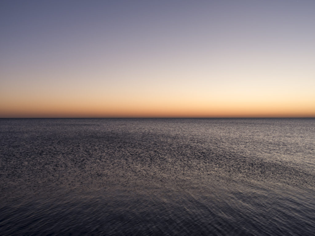 Fine Art Photography of Lake Michigan the morning of the Chicago Triathlon from Chicago by Contemporary Photographer Lincoln Schatz