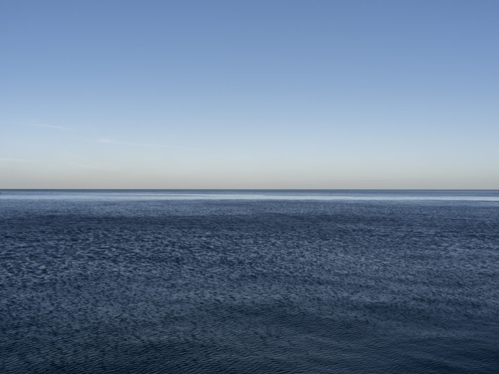 Fine Art Photography of Lake Michigan with high wind patterning the water from Chicago by Contemporary Photographer Lincoln Schatz