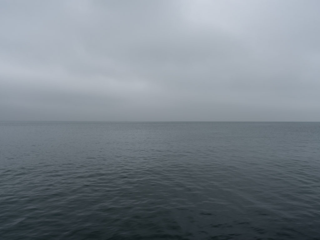 Fine Art Photography of Lake Michigan gray still and infinite from Chicago by Contemporary Photographer Lincoln Schatz