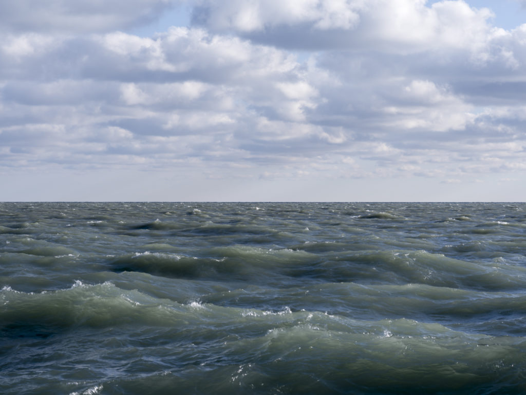 Fine Art Photography of Lake Michigan with a high wind and whitecaps from Chicago by Contemporary Photographer Lincoln Schatz