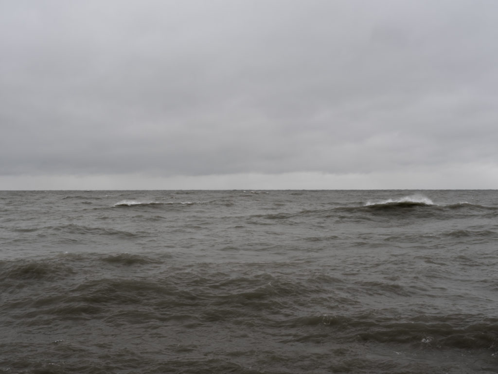 North winter storm Contemporary art photography of Lake Michigan, Great Lakes, from Chicago by artist Lincoln Schatz