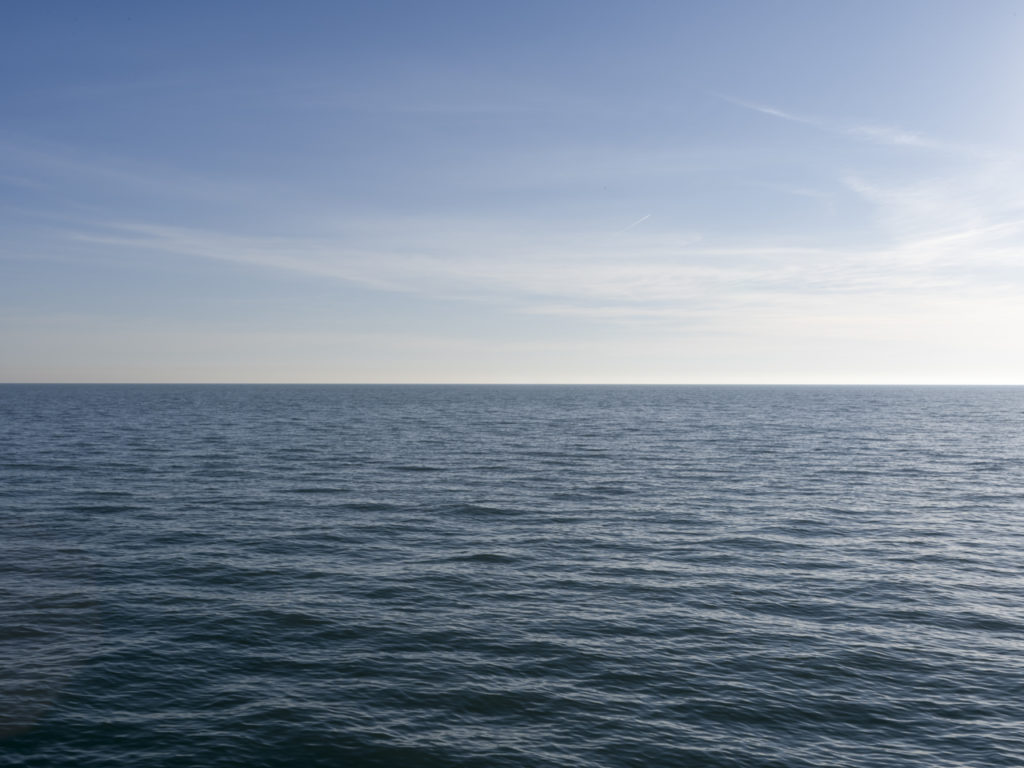 Fine Art Photography of Lake Michigan silvery blue from Chicago by Contemporary Photographer Lincoln Schatz