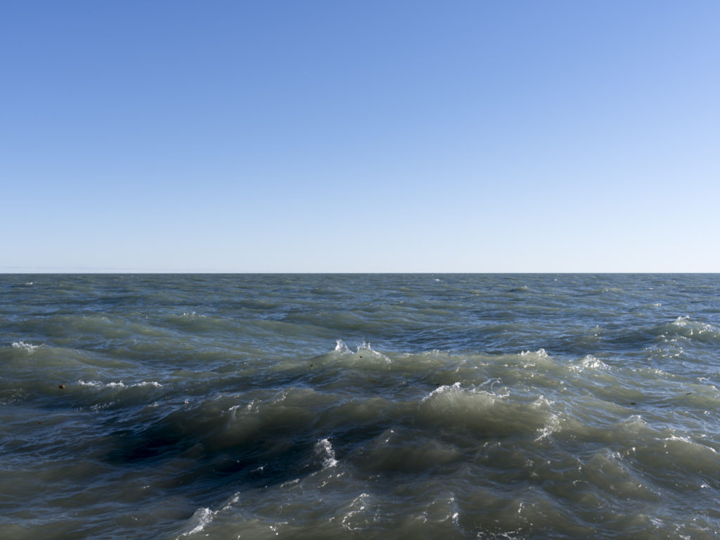 Fine Art Photography of Lake Michigan with choppy waves breaking from Chicago by Contemporary Photographer Lincoln Schatz