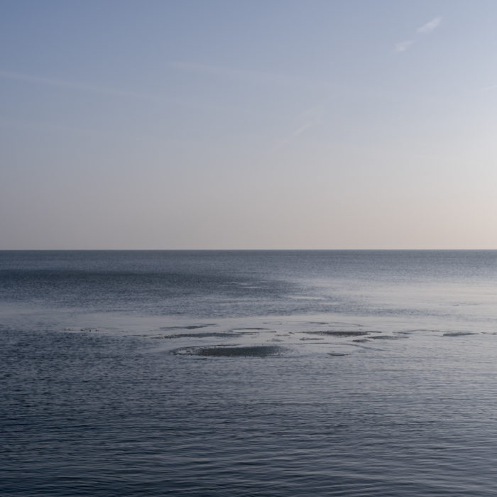 early ice flow Contemporary art photography of Lake Michigan, Great Lakes, from Chicago by artist Lincoln Schatz