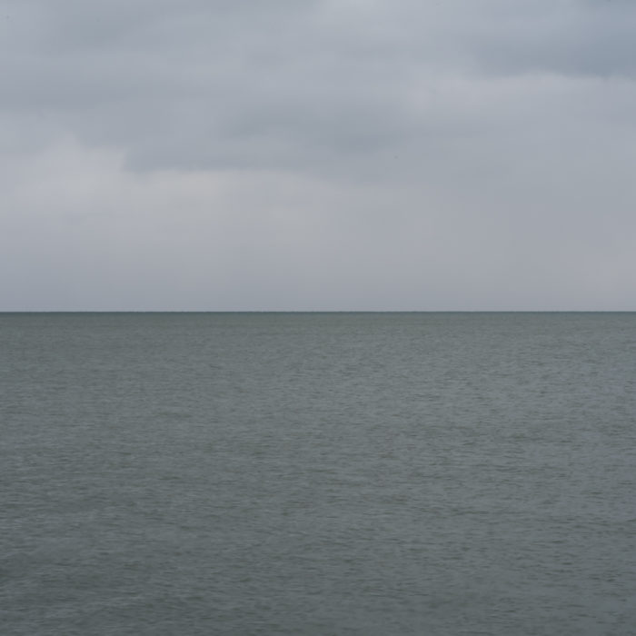 Fine Art Photography of Lake Michigan still and flat from Chicago by Contemporary Photographer Lincoln Schatz
