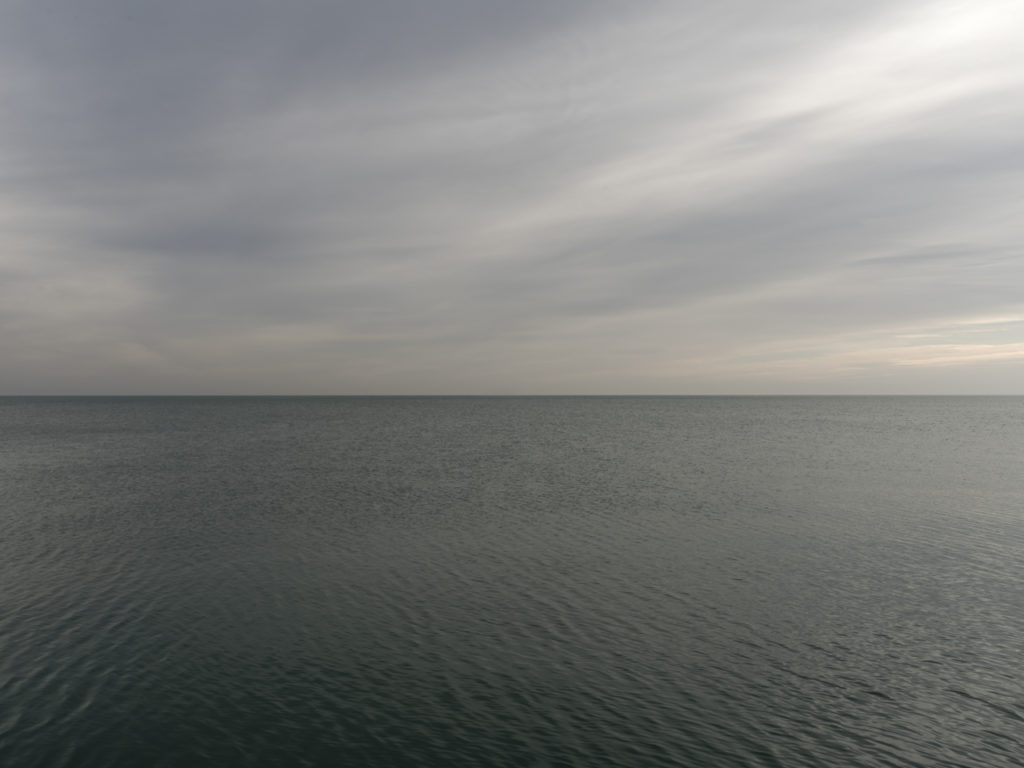 Fine Art Photography of Lake Michigan with an endless horizon from Chicago by Contemporary Photographer Lincoln Schatz
