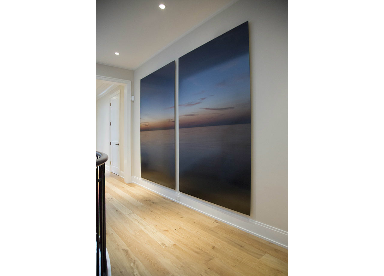 Fine art photograph of Lake Michigan as a diptych in a Chicago art collection