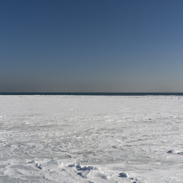 Fine Art Photography of snow covered Lake Michigan from Chicago by Contemporary Photographer Lincoln Schatz