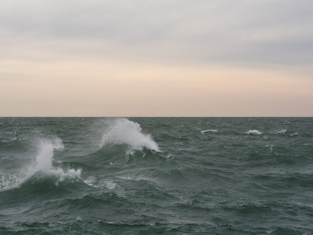 Fine Art Photography of Lake Michigan storm from Chicago by Contemporary Photographer Lincoln Schatz