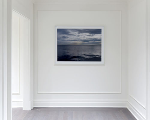 Lake Series framed photograph installed Fine art photograph of Lake Michigan from Chicago by artist Lincoln Schatz @lincolnschatz.com